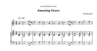 Bagpipe Finger Chart Amazing Grace Amazing Grace Traditional Free Flute Sheet Music