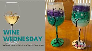 winter wonderland wine glass painting vegas valley winery las vegas 9 january