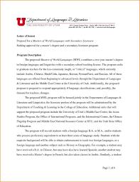 Admission Letter Of Intent Sample For Doctoral Program New School