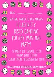 hello kitty invitation emma marsh design hello kitty invitation