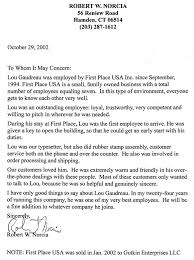 Gallery For Gt Letter Of Recommendation For A Job From Reference