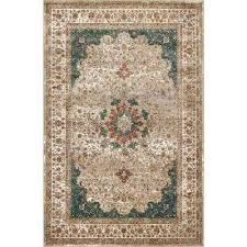 traditional kristie medallion green 7 ft 10 in x 11 ft 2 in