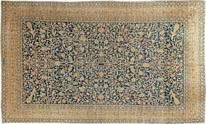 antique carpets persian kirman beige botanical 19x12 bb6089