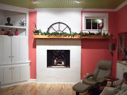 sumptuous fireplace mantel shelf in family room eclectic with next to tomato red alongside asymmetrical mantel