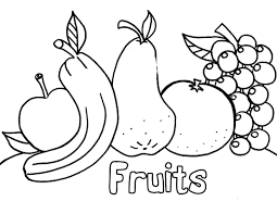 Childrens Pictures To Colour Fruit