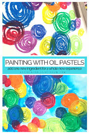 add baby oil to your oil pastel drawing and it becomes an oil pastel painting