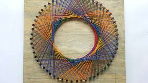 String Art Pattern Generator Inspiration How To Create A Colorful Spirograph String Art DIY Tutorial