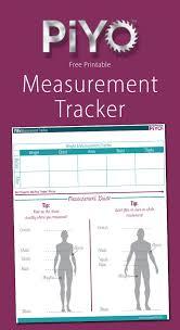 Printable Piyo Measurement Chart My Crazy Good Life