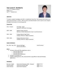 Pharmacist Sample Resume Resume Example Format For Ojt Latest Free Templates Biodata Download