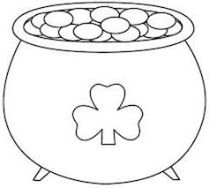 Small Picture A Big Pot of Gold on St Patricks Day Coloring Page Batch Coloring