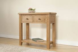 small hall table with drawers. Console Table Oak Narrow With Two Drawers On Cozy Kahrs Flooring And White Baseboard Small Hall D