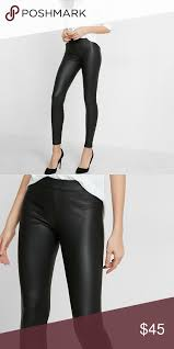 faux leather leggings express nwot rock out the texture and er of curve hugging faux leather leggings don t get any sleeker or ier than this