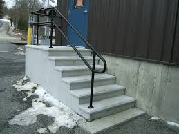 ... Stairs, Inspiring Exterior Stair Handrail Outdoor Stair Railing Ideas  Black Iron Stair Handrail: amazing
