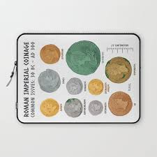 Roman Coin Chart Laptop Sleeve By Flaroh