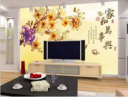 Small Picture Aliexpresscom Buy New customized TV setting wall flowers