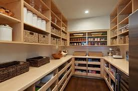 large pantry walk in with pull out shelves