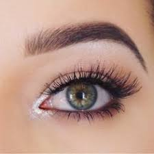 easy eye makeup brown tightlining waterline silver sparkle in the inner corner some natural false lashes