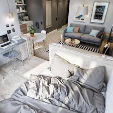2 simple super beautiful studio apartment concepts for a young couple includes floor plans small apartment ideas