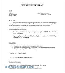 Sample Resume For Bank Jobs Freshers Curriculum Vitae Examples For ...