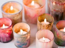 DIY Painted Candle Holder votive crafts