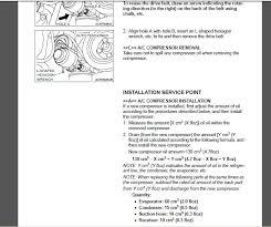Auto Ac Compressor Oil Capacity Chart A C Compressor Oil Capacity And Wiring Evolutionm