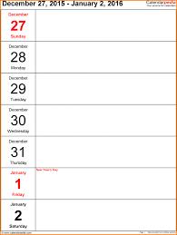 Blank One Week Calendar Blank One Week Calendar Weekly 2016 Tem Muygeek