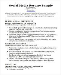 Sample Social Media Resume 100 Social Media Resume Templates PDF DOC Free Premium Templates 31