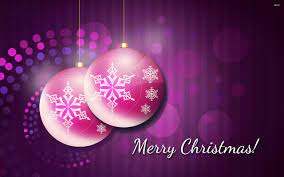 Marry Christmas Pink Decoration Balls ...