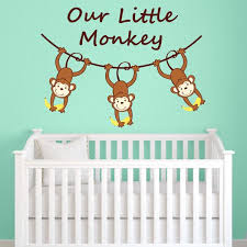 our little monkey wall decal