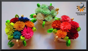 Paper Quilling Flower Baskets Quilled Flower Basket Kalanirmitee Creations