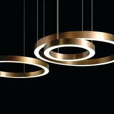 modern copper ring led pendant lighting light uk p
