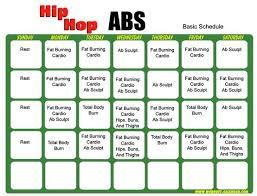 Hip Hop Abs Workout Chart Hip Hop Abs Schedule Workout Calendar Hip Hop Abs