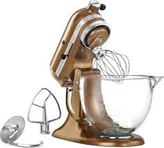 kitchenaid copper mixer antique copper artisan mixer with gl bowl a metallic elegance for any kitchen