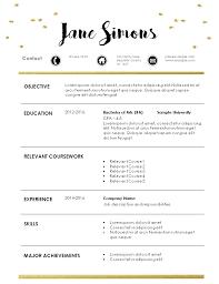 Internship Resume Template Cool Resume Internship