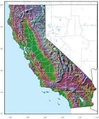 california relief map • mapsofnet