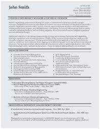 Electrical Project Engineer Resume Sample Outstanding Resume