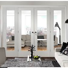 white pattern 10 clear glazed french doors with demi panels emerald doors