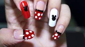 Nail Art at Home - Easy & Cool Mickey Mouse design in steps - YouTube