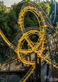 the iconic interlocking loops on loch ness monster roller coaster busch gardens williamsburg