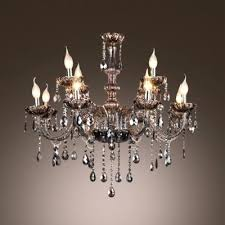 chandeliers smoke crystal chandelier fashion style chandeliers smoky gray finely hand cut chains and light