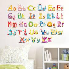 wall sticker decal english alphabet