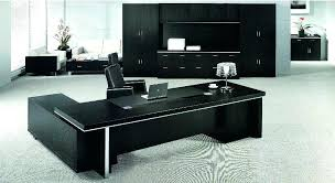 glass office table. Modern Black Desk Contemporary Glass Office Designer Table Unique Shape Floating
