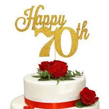 Cake Topper 70th Birthday Propshop24com