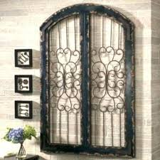 wrought iron and wood wall decor art gate metal framed dec