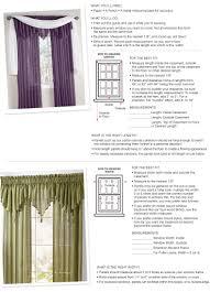 window curtain size chart