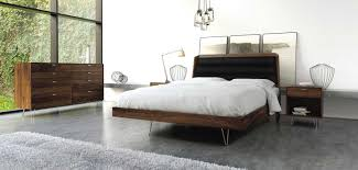 Hairpin legs Copeland Canto Walnut Bedroom Collection.