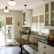 Kitchen Breakfast Nooks - With no room for a large eat-in area, this galley  kitchen maximizes space with a built-in bench and super slim dining table,  ...