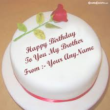 birthday cake for brother name with