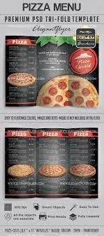 Pizza Menu Tri Fold Brochure In Psd
