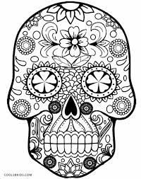 Small Picture Get This Sugar Skull Coloring Pages to Print for Grown Ups 95669